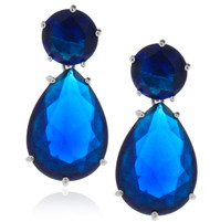 Sterling Silver .925 Sapphire Drop Earrings