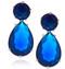 Sterling Silver .925 Sapphire Drop Earrings