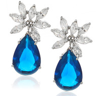 Drop Sapphire Earrings