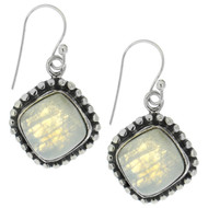 Sterling Silver 925 Filigree Moonstone Earrings