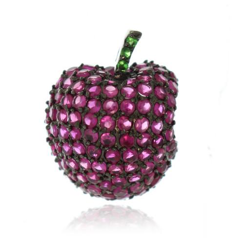 Apple Cubic Zirconia Apple Necklace Pendant