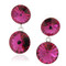 Swarovski Element Double Round Drop Pink Earrings