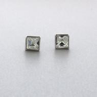 Swarovski Crystal Stud Earrings in Brass