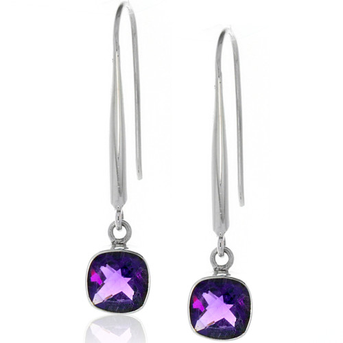 Amethyst Silver .925 Drop Earrings