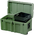 Footlocker, Large, OD Green, 472-FTLK-LG-137, NSN 8145-01-516-5386, with Rolling Casters