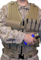 Blackhawk: Omega Elite Vest Cross Draw/Pistol Mag (Left-Hand Draw), Desert Tan (30EV26DE-L)