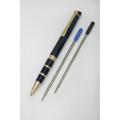 Executive Twist Pen - Fine Point, Blue Metallic Barrel, NSN 7520-01-451-2274