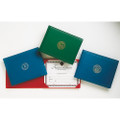 Award Certificate Binder - Silver USAF Seal, Blue, NSN 7510-00-115-3250