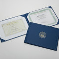 Award Certificate Binder - Gold Navy Seal, Blue, NSN 7510-00-482-2994