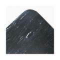 Cushion-Step Mat, Rubber, 36 x 60, Marbleized Black