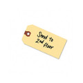 Unstrung Shipping Tag w/Reinforced Eyelet, Paper, 4-3/4 x 2-3/8, Manila, 1000