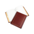 Looseleaf Minute Book, Red Leather-Like Cover, 125 Pgs, 8-1/2 x 11