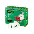 "Scotch Magic Office Tape Value Pack, 3/4"" x 28 Yards, 1"" Core, Clear, Six/Box"