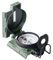 Master Compass, Lensatic Phosphorescent, Tester, Mounted, Reversed Polarity, Lusterless Red