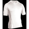 Engineered Fit Shirt - SS Vneck, White, Size 2XLarge,84BS03WH-2XL