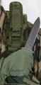 """Blackhawk: Airborn Delx Knife Sheathw/Adj ThumbBreak-7"""" (K-Bar) (44AK01BK, 44AK01DE, 44AK01OD) (NSN: 1095-01-523-5194)"""