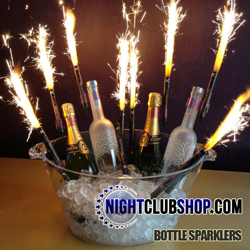 BOTTLE SPARKLERS Champagne Bottle Sparklers NightclubShopcom
