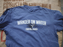 wander on water....kite boarding. This is a great t-shirt when you're done with catching some wind. The t-shirt is 100% garment washed preshrunk cotton