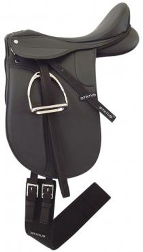 Status Synthetic Dressage Saddle Kit (Mounted)