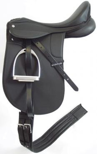 Status Synthetic Dressage Saddle Deluxe Kit (Mounted)
