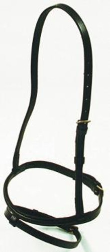 Showcraft Hanoverian Raised Leather Noseband