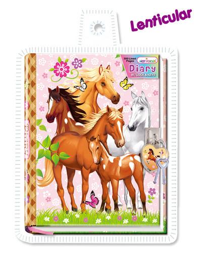 Enchanted Horse Diary W/Lock & Keys