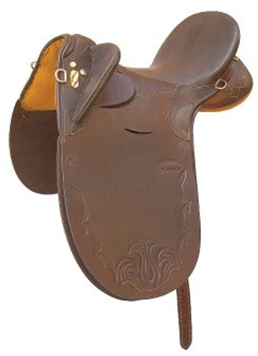 Plainsman Poley Leather Stock Saddle