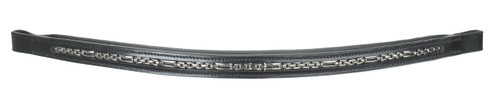 CLEARANCE: Horze Darling Browband (Black/Full Size)