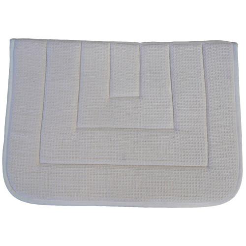 CLEARANCE: Honeywaffle Weave Saddle Blanket White