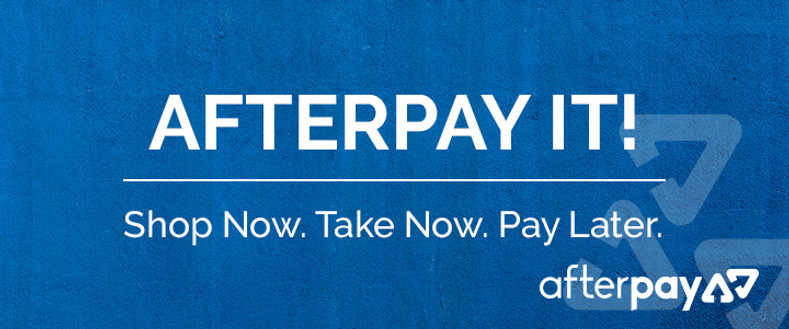 AfterPay Available Now! Shop now, pay later...