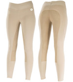 Active Leather Full Seat Breeches - Beige