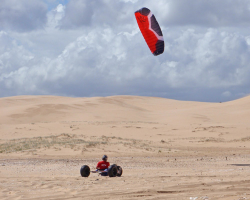 Ozone Method Kite on Buggy