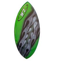Surge custom fiberglass skimboard Green Flame