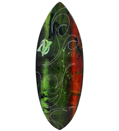 Comp Carbon Skimboard with Resin Art