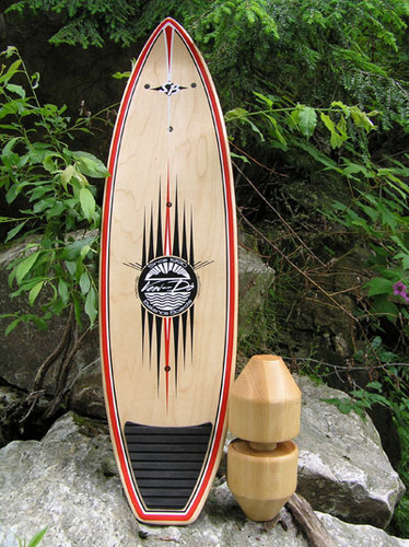 The Short Board Switch Back Vew Do Balance Board from the Barefoot Series