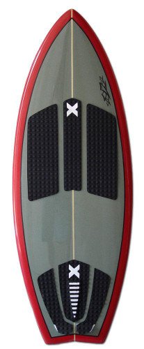 Slasher Pro X Wakesurf Board Front Grey/Red