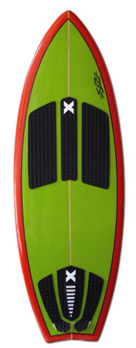 Slasher Pro X Wakesurf Board Front Green/Red