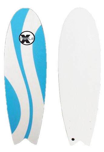 Triple x 5 39 10 waverly soft top fish surfboard l shadeonme for Best fish surfboard