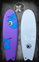 Blue Soft Top Fish Surfboard
