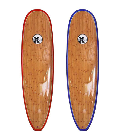"The Triple X 7'6"" Bamboo Super Wide Surfboard"