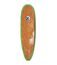Triple X 7' Green Bamboo Epoxy Super Wide Surfboard