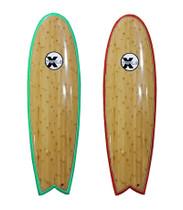 The Triple X 6' Bamboo Fish Surfboard