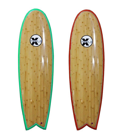 The Triple X 6' Bamboo Fish Surfboard