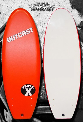 "Triple X Red Outcast 4' 11"" Soft Top Surfboard"