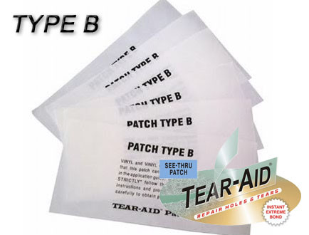 Tear Aid Type B Patch L Vinyl Repair Patch L Shadeonme