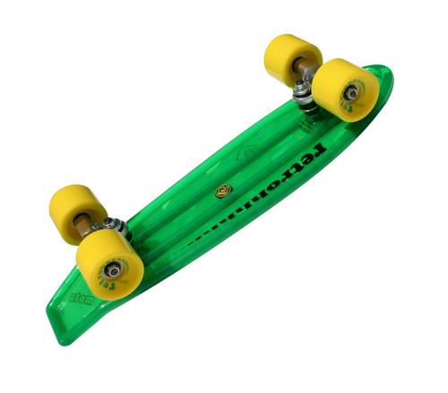 "Atom 21"" Mini Retroh Molded Skateboard l Green Bottom"