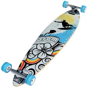 "Atom 39"" Pintail Longboard l Blue Bottom"