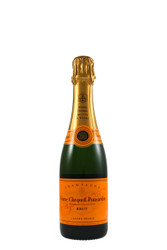 "Veuve Clicquot Yellow Label Half Bottle Brut Champagne.  Offers one quality, the finest. This is the motto of the House of Veuve Clicquot Ponsardin, founded in 1772. This cuvee bears the famous ""Clicquot Yellow Label"", a symbol of excellence. Citric, apple, toast, butter and yeast aromas, very expansive with distinctive strawberry Pinot Noir character and a touch of black pepper, and a full, rich and soft creamy finish."