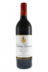 Chateau Giscours Margaux 2005.  Impatient people will feel it is delightful even young, however, it has a good ageing potential that it would be wise to take advantage of, within a few years its aromas of red and black fruits, smoked and grilled, will achieve their climax in the succulence level.