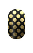 Black with Gold Polka Dots
